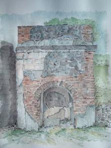 Pompeji-akvarel